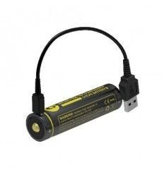 Nitecore Micro USB 18650 Li-ion battery (2600mah) - outpost-shop.com