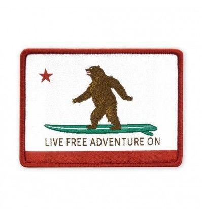 Prometheus Design Werx Live Free Adventure On CA State Flag Morale Patch - outpost-shop.com