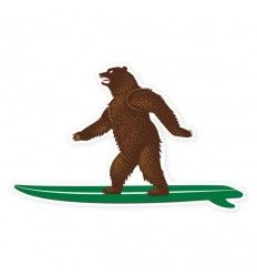 Prometheus Design Werx CA Surf Bear Sticker - outpost-shop.com