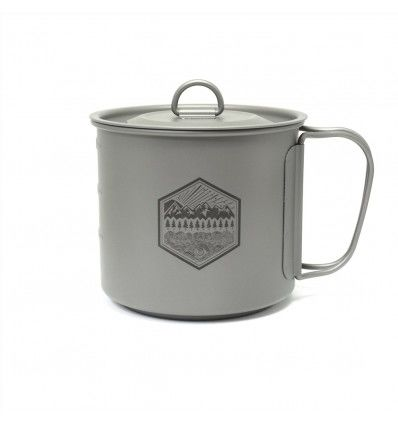 Prometheus Design Werx Ti-Line 600ML Mini Pot-Mug with Lid - outpost-shop.com
