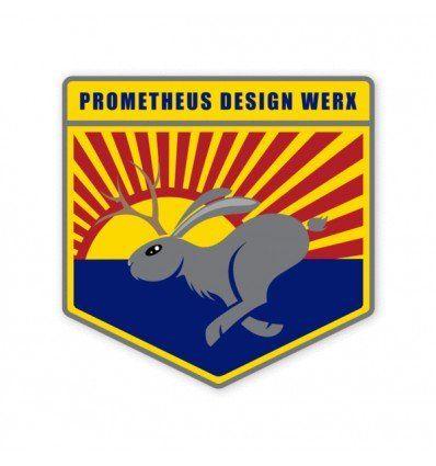 Prometheus Design Werx   High Speed South Western Jackalope Sticker