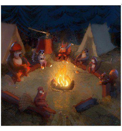 Prometheus Design Werx DRB Art Print - Campfire Friends - outpost-shop.com
