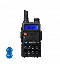 Retevis | RT5R Walkie Talkie 5W 128CH UHF+VHF FM Radio Two Way Radio