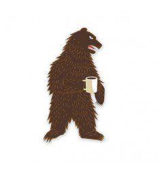 Prometheus Design Werx   Morning Bear Sticker